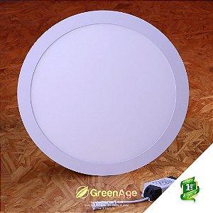 Plafon Led Embutir Redondo 25w Branco Frio e Neutro 110-220v