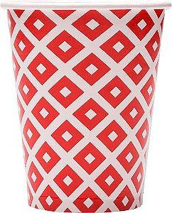 Copo de Papel 240ml Vermelho Cereja (16 unidades)
