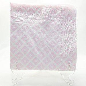 Guardanapo de papel Rosa geométrico - 33x33cm (10 unidades)