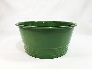 Cachepot redondo Verde Musgo - 20cmx10cm