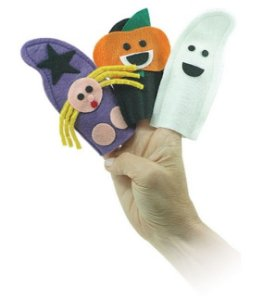Dedoche Halloween - Noite das Bruxas (3 personagens)