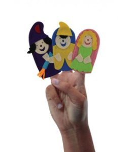 Dedoche Rapunzel (3 personagens)