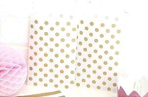 Saquinho de papel poás - Dourado 13x18 cm (10 unidades)