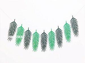 Bandeirola Folhas Tropicais (papel e cordão)