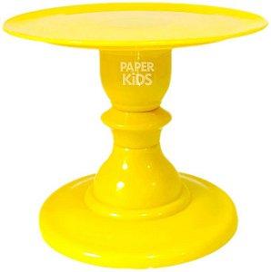 Boleira com pé torneado - Amarelo