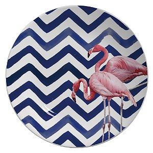 Prato chevron Flamingos - 27 cm (2 unidades)