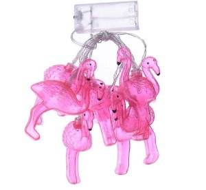 Cordão de luz LED - Flamingos (1 m)