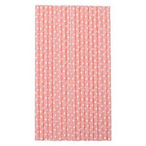 Canudo de papel poás - rosa bebe (20 unidades)