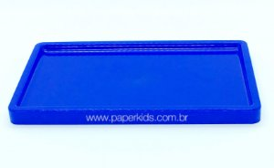 Suporte/ Bandeja para doces - Azul Bic (30x18x2cm)