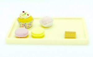 Bandeja para doces - Creme (30x18x2cm)