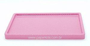 Suporte/ Bandeja para doces - cor Rosa (30x18x2cm)