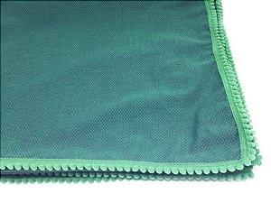 Caminho de Mesa com pompom - Verde escuro  (1,5m x 70cm)