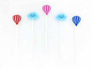 Vela formato de Nuvens e Balões (5 unidades)