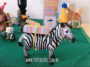 6 Mini Presentes em 4 estampas e tamanhos diversos - cores Candy