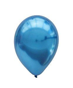 """Balão Chrome Azul - 11"""" (2 unidades)"""