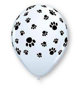 """Balão festa pet - 11"""" Patinhas (unidade)"""