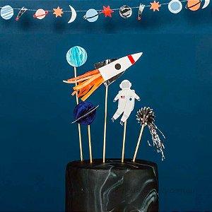 Topo de bolo festa Astronauta - Meri Meri