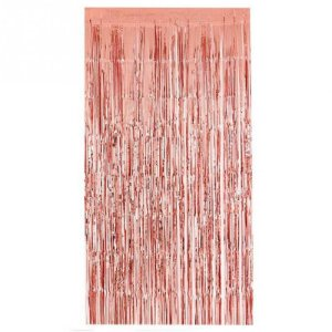 Cortina de Franja metalizada - Rose Gold (1x2m)