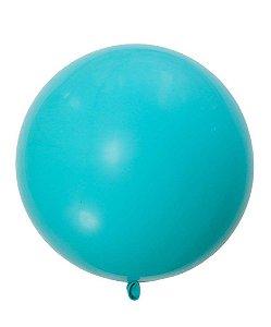 """Balão 30"""" gigante 76 cm - Azul Caribe (unidade)"""