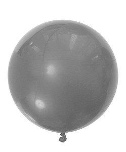 """Balão 30"""" gigante 76 cm - Prata metalizado (unidade)"""