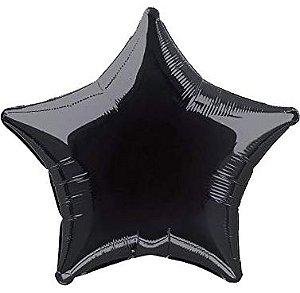 """Balão 20"""" Estrela - Preto Ônix 51 cm (unidade)"""