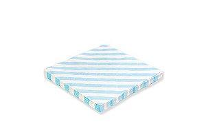 Guardanapo de papel listras Azul claro - 33cm (20 unidades)