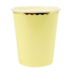 Copos de papel Candy Colors - Amarelo (10 unidades)