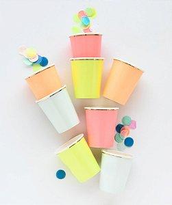 Copos de papel sortidos NEON - Meri Meri (8 un)