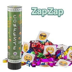 Lança confetes mola com adesivos - EMOJIS