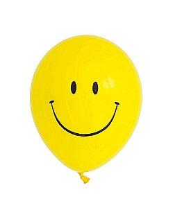 """Balão 11"""" látex - Carinha/Emoji (unidade)"""