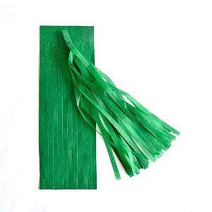 Guirlanda / Cauda Balão Franjas - Pompom Verde (5un)