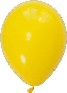 """Balão 11"""" látex - Amarelo (unidade)"""