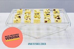 Bandeja para doces - Transparente (30x18x2cm)