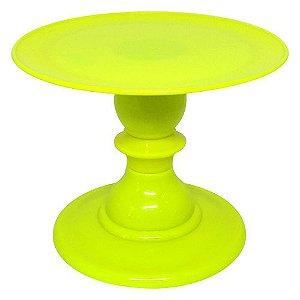 Boleira 16.5 h x 22cm diâmetro - Amarelo Neon