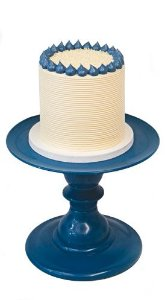 Boleira 16.5 h x 22cm diâmetro - Azul Petróleo