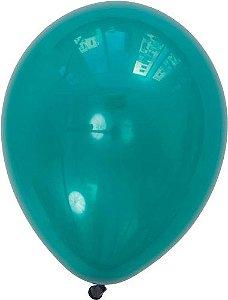 """Balão 11"""" látex - Azul Petróleo (unidade)"""