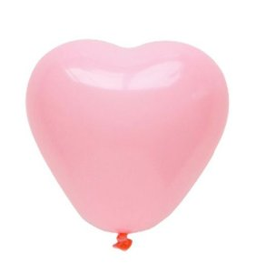 """Balão Coração 11"""" - Rosa Claro (1 unidade)"""