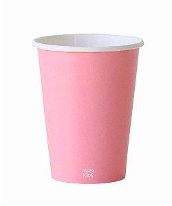 Copo de papel - Rosa claro (10 unidades)