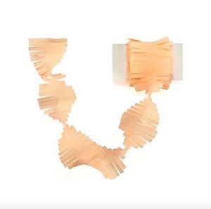 Cauda / Franja para balão - Pêssego (5 cm x 3 metros)