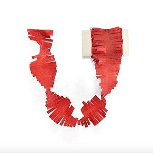 Cauda / Franja para balão - Vermelho (5 cm x 3 metros)