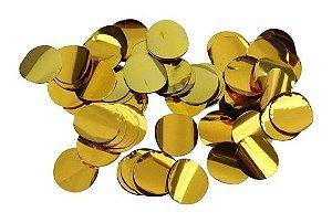 Confete bola metalizado - Dourado 2 cm (10g)