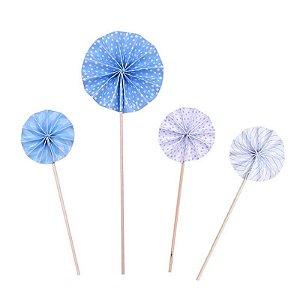 Pick Rosetas - Azul Claro (4 unidades)