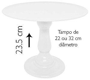 Boleira 23.5 cm altura - Branco (escolha o tampo)