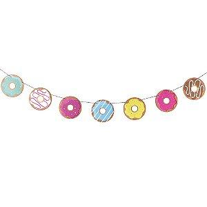 Guirlanda de festa - Donuts (8 peças)