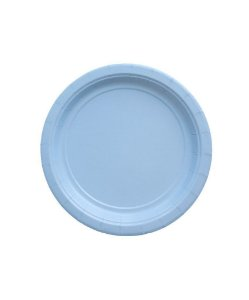Pratinho de papel - Azul claro 18 cm (10 un)