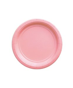 Pratinho de papel - Rosa claro 18 cm (10 un)