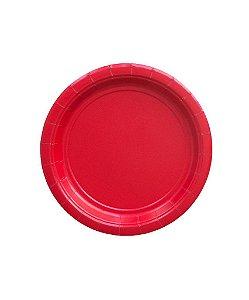 Pratinho de papel - Vermelho 18 cm (10 un)