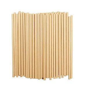 Canudo de papel Kraft - 100 unidades