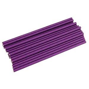 Canudo de papel liso - Roxo (20 unidades)