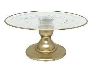 Suporte transparente filete - Dourado (13.5 cm h x 32 cm)